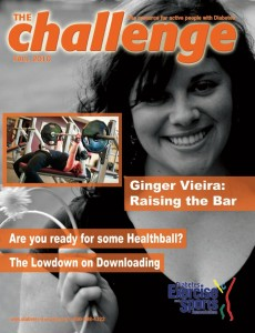 Ginger Vieira on the cover of Challenge magazine