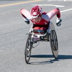 Women&#039;s wheelchair leader - Boston Marathon