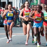 Women&#039;s Lead Pack - Boston Marathon