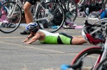 Oh no! She's triathlon road kill!