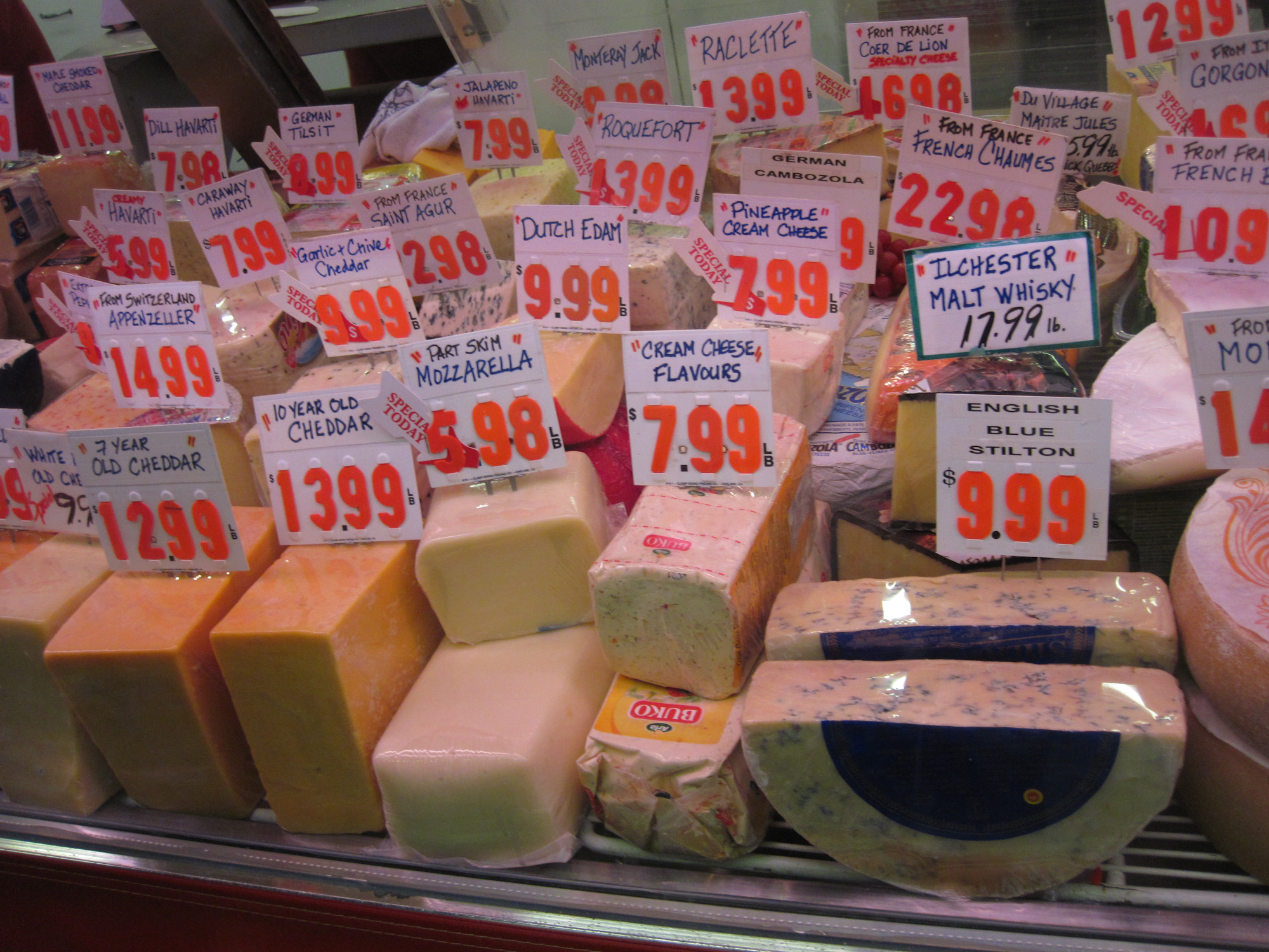Cheese at the Hamilton Market