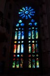 Stained glass in the Sagrada Familia