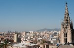 View of Barcelona from the roof of the cathedral