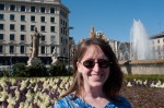 Lisa at the Plaça de Catalunya