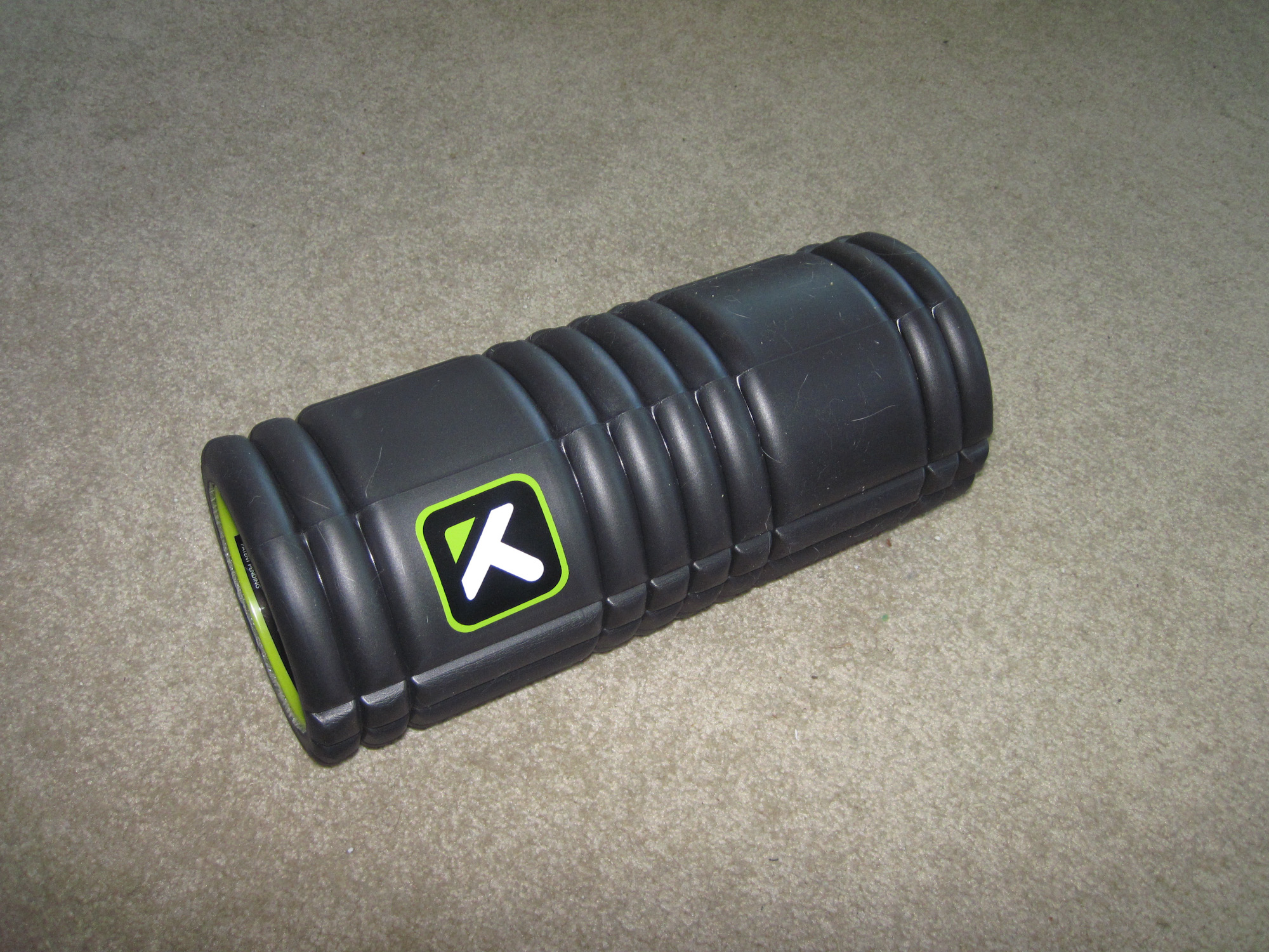 After my run, a little stretching and the foam roller.