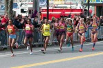 The lead women of the 2013 Boston Marathon