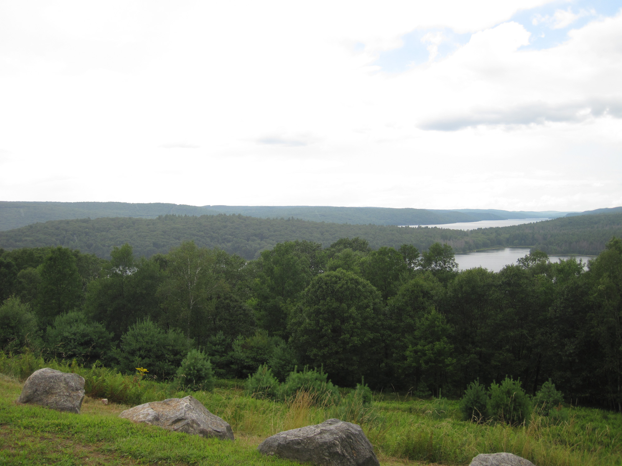 The damp view from Quabbin Hill