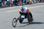 Ernst Van Dyk, the 2014 Boston Marathon men's pushrim wheelchair winner