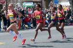 Shalane Flanagan leads the 2014 Boston Marathon