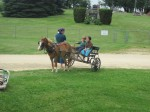 Amish kids and their ride