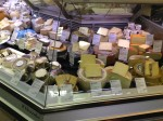 One of the cheese cases at KaDeWe