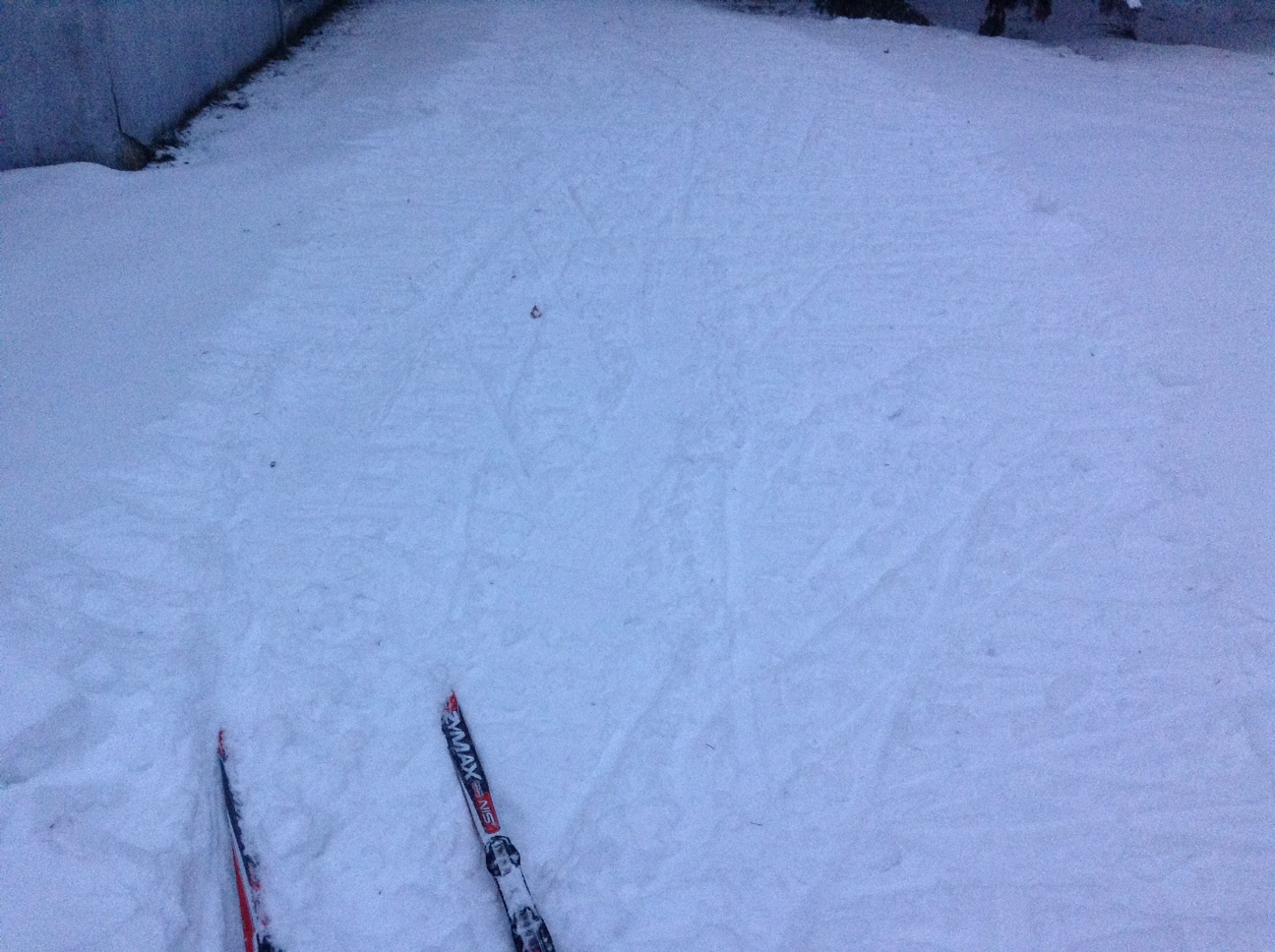 Ski track before the storm