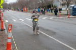 One of the few soldiers actually running