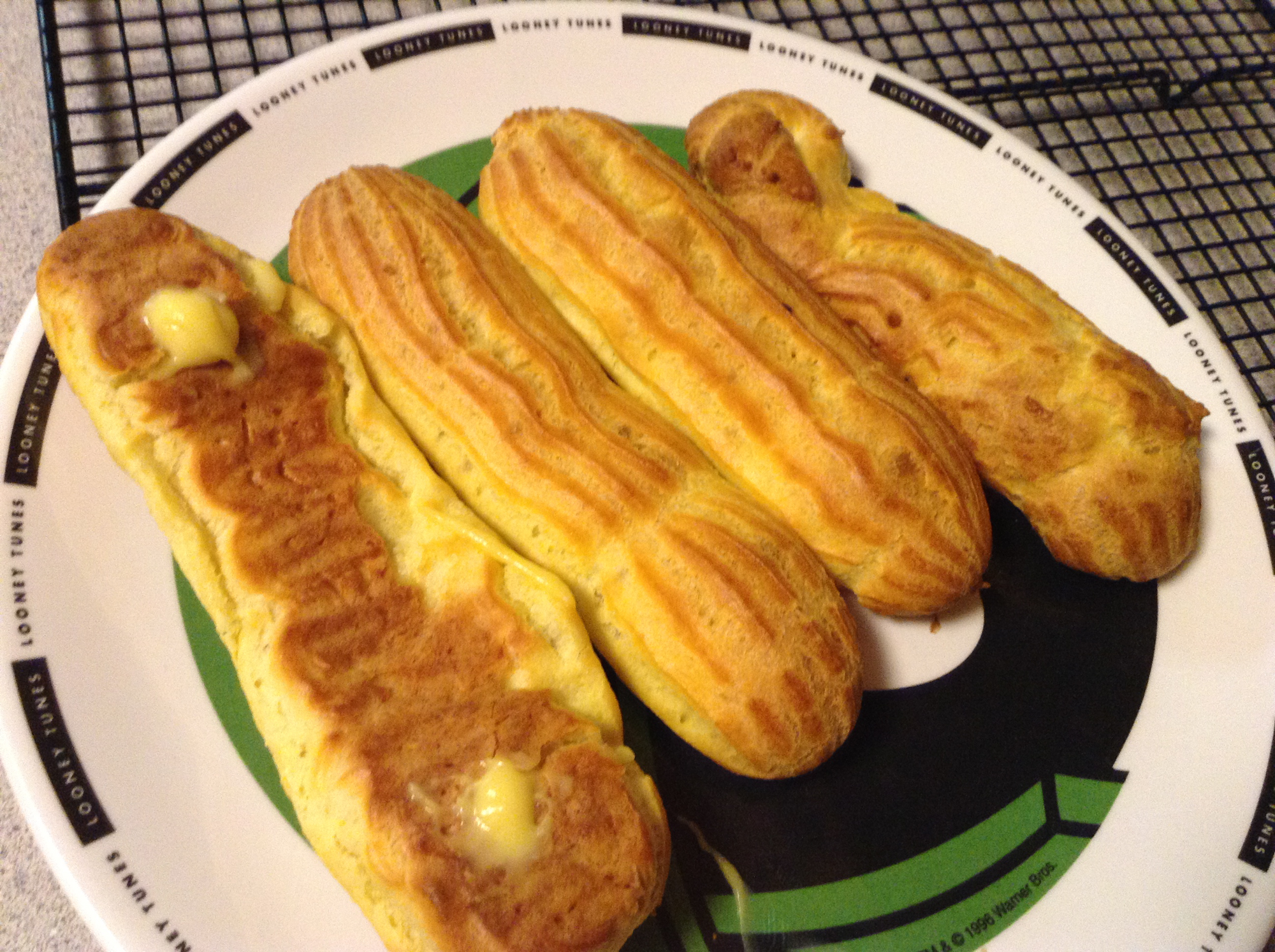 Éclairs... the edible ones