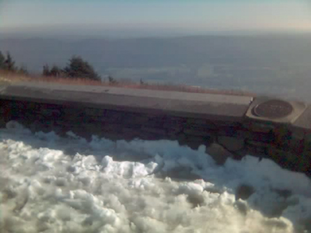 A little bit of snow on Mount Greylock