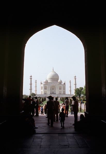 Taj Mahal from the south gate, Agra