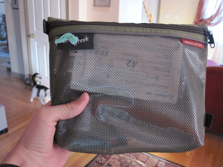 Diabetes kit using a medium-sized Eagle Creek Pack-It System sac