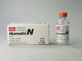 NPH insulin vial and packaging